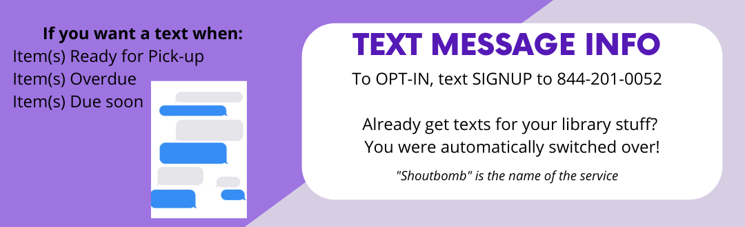 Text Message Info - way to get texts for library stuff