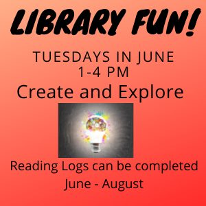 Library Fun Tuesdays in June 1-4